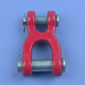2pcs Heavy Duty Double Clevis Link Chain Link 5 8
