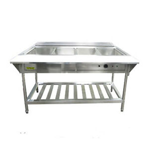 Adcraft Est 240 kit 4 compartment Water Bath Steam Table