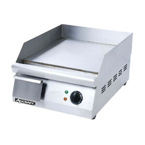 Adcraft Grid 16 16 Electric Countertop Griddle With Flat Griddle Surface