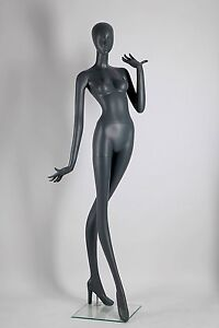 Abstract Female Mannequin Matte Grey Angel Style Made Of Fiberglass ados3