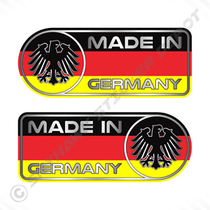 Made In Germany Car Sticker Set Vinyl Decal German Flag Sticker For Benz