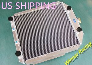 56mm Aluminum Radiator Fit Ford F Series Truck Pickup Flathead V8 A T 1948 1952