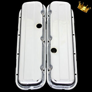 Big Block Chevy Short Valve Covers For 396 427 454 502 Chevrolet Engines Chrome