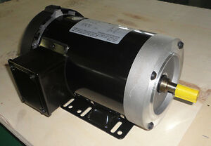 Ac Motor 2hp 3600rpm 56c Inverter Rated Removable Feet 3phase Tefc 1 Yr Warranty