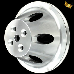 Billet Big Block Chevy Water Pump Pulley Single Groove Short Wp 396 427 454