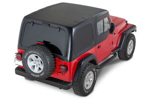 Smittybilt 519801 in Stock 1 pc Hard Top W Upper Doors 97 06 Jeep Wrangler Tj