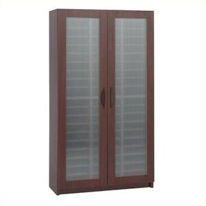 Safco Mahogany 60 Compartment Mail Organizer With Doors Mailroom Furniture