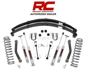1984 2001 Jeep Xj Cherokee 4wd 4 5 Rough Country Suspension Lift Kit 633n2