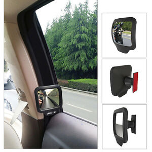 2pcs Adjustable Blind Spot Mirror Stick Wide Angle Car Truck Side View Convex