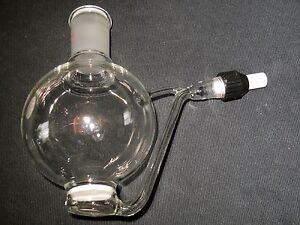 Modified 250ml Glass Straus Flask W Fritted Filter 24 40 Outer Joint