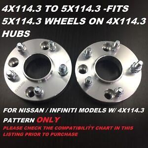 4pcs 4x114 3 To 5x114 3 5 Lug Conversion Wheel Adapters Spacers 12x1 25 66 1 Cb