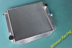 56mm Aluminum Radiator Fit Chevy Impala Biscayne Caprice Bel Air 348 V8 At 1958
