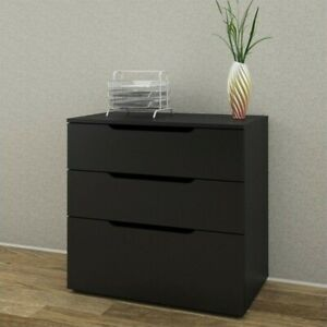 Filing Cabinet File Storage 3 Drawer Lateral Letter Legal Levelers In Black
