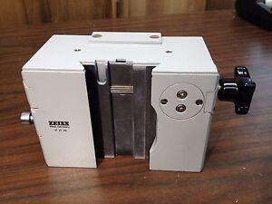 Zeiss 47 27 06 Upright Trinocular Compound Microscope Optic Height Adjust Part
