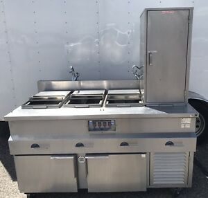 Custom Hot Food Steam Table Commercial Kitchen 65 4 Well 3ph Refrigerator