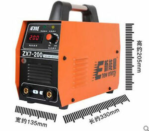 220v Zx7 200 Dc Inverter Welding Equipment Portable Welder Machine