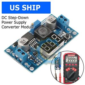 Buck Step down Lm2596 Power Converter Module Dc 4 0 40 To 1 3 37v Led Voltmeter