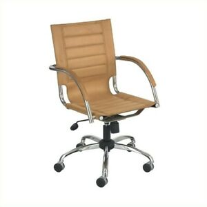 Safco Flaunt Managers Office Chair Camel Micro Fiber In Camel