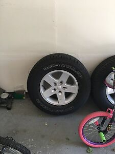 5 New Goodyear Tires And Alloy Rims Off A 2016 Jeep Wrangler Sport S