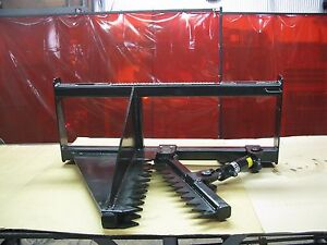 Tree Puller W quick Attach Plate For Skid Loaders