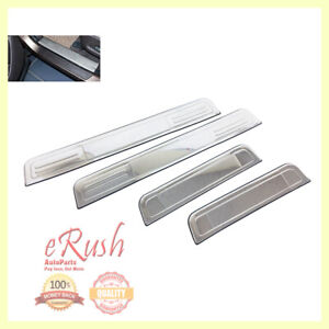 For 2006 2012 Hyundai Santa Fe Scuff Plate Door Sill Sills Stainless Steel Fast
