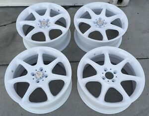 New Racing Hart S7 Evolution 17 X7 Et 40 4 100 White Set Of 4pcs Made In Japan