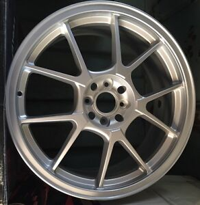 Racing Hart Evo Cp10 18 X 7 5 Et 42 4 100 Silver Set Of 4 Wheels Made In Japan