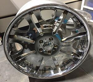 Lowenhart Lc1 3pc 10 X 20 Et48 5 112 Chrome Made In Japan One Wheel Only New