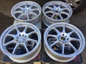 Racing Hart Cp8 18 X 7 5 Et 42 4 114 3 Silver Set Of 4 Wheels Made In Japan
