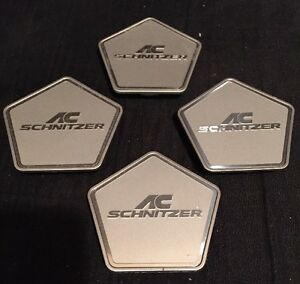 Ac Schnitzer Genuine Magic Silver Wheel Center Cap Type Iv Set Of 4 Pcs