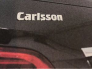 New Carlsson Chrome Logo Rear Boot Badge Emblem Made In Germany Oem 99500125