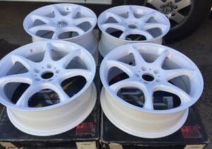 New Racing Hart S7 Evolution 18 X7 5 Et42 5 114 3white Set Of 4pcs Made In Japan