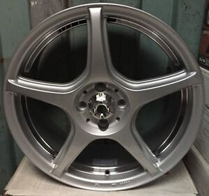 Racing Hart Evolution Cp5 17 X 7 Et40 4 100 Silver 3 Wheel Only Jdm