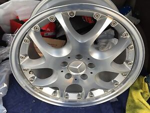 Brabus Mono V 2pc 8 5 X 18 Et 35 5 112 Silver Made In Germany One Wheel Only