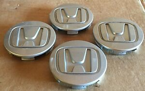 Honda Wheels Silver Custom Wheel Center Cap Caps 44732 sjc a500 Oem Set Of 4