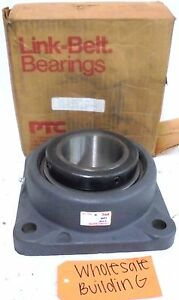 Link Belt Bearing 4 Bolt Flange Bearing F255 Bore 3 7 16 Od 5 Id 3 9 16