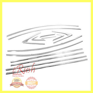 For 2009 2015 Chevy Cruze Chrome Plated 14pcs Abs Window Frame Trims Kit Us Sell