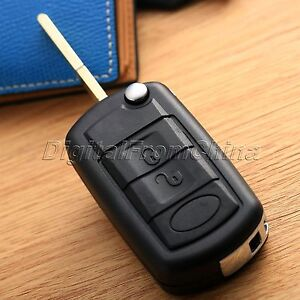 3 Buttons Flip Fob Remote Folding Car Key Case Shell Fob For Land Rover Discover