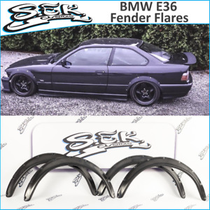 Bmw E36 2 Doors Wide Body Kit Abs Plastic Fender Flares Set Wheel Arches