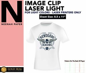 Image Clip Laser Light Self weeding Heat Transfer Paper 8 5 X 11 50 Sheets