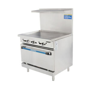 Turbo Air Tar 36g Radiance 36 Nat Gas Restaurant Range With Standard Oven Base