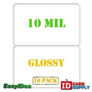 Qty 10 10 Mil Glossy Edge To Edge Butterfly Laminating Pouch For Id Cards