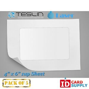 Teslin Synthetic Paper 4 X 6 Perforated 1 up Laser Sheet Pack Of 5
