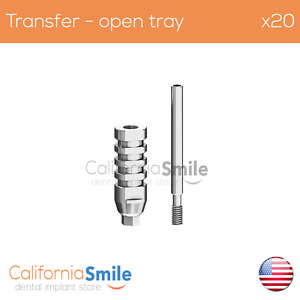 20x Transfer Impression Coping Open Tray For Dental Implant Internal Hex
