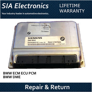 Bmw Ecm Ecu Pcm Dme Engine Computer Repair Return Bmw Ecm Repair