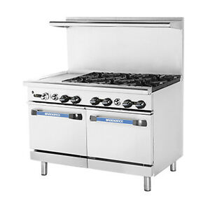 Turbo Air Targ 12g6b Radiance 48 nat Gas Restaurant Range W 2 Standard Ovens