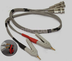 New Bnc To Lcr Kelvin Clip Cable Alligator Clip For Meter Wires Oscilloscope