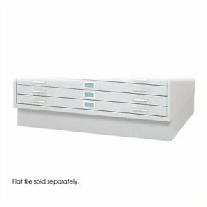 Safco Closed Low Base For 4986 And 4996 Flat File Cabinets In White