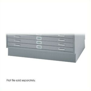 Safco Flat File Closed Base In Gray