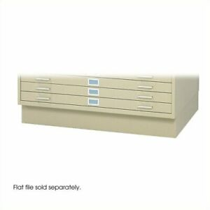 Safco Closed Low Base For 4986 And 4996 Flat File Cabinets In Tropic Sand